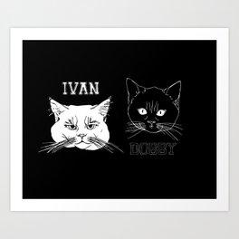 Ivan and Dobby Collegiate Inverse Art Print