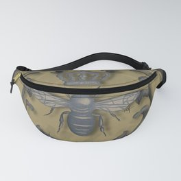 French Bee with Gold Damask Background Fanny Pack