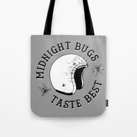 bugs Tote Bags featuring Bugs by The Junkers