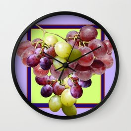 CLUSTER WINE GRAPES VINEYARD DESIGN Wall Clock
