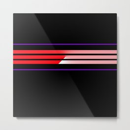 Team Colors 5...Red,purple Metal Print