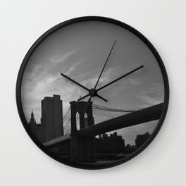 Across the River Wall Clock
