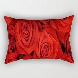 Red Rose Flower Rectangular Pillow