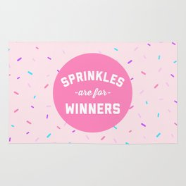 Sprinkles Are For Winners Funny Quote Rug