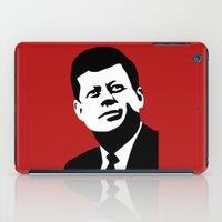 jfk iPad Cases featuring JFK Poster by Steve Lovelace