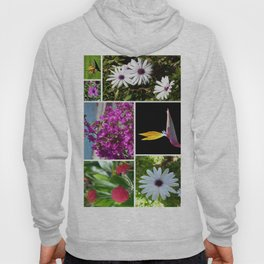 Collage of Maderian Flowers, Hoody
