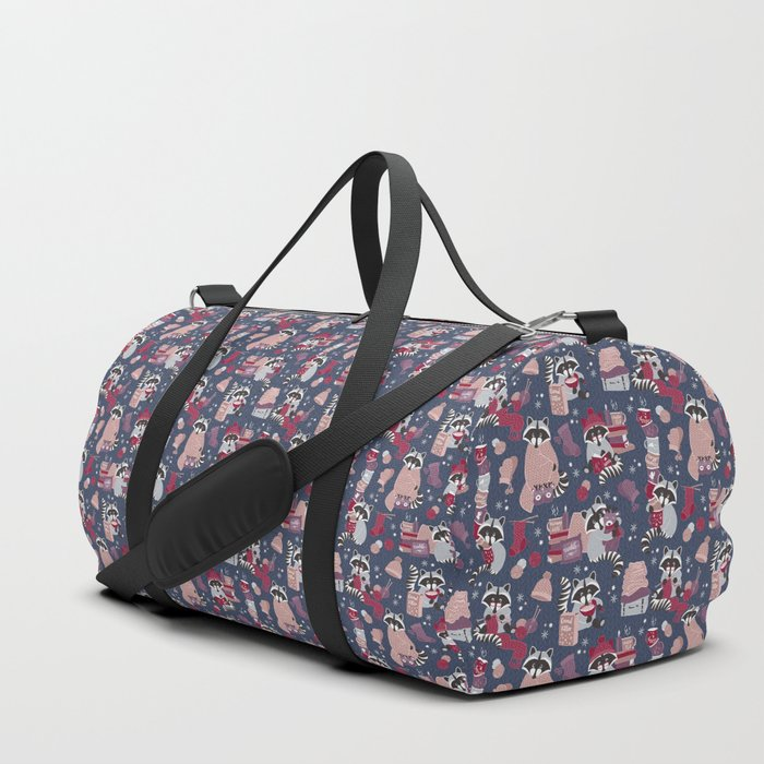Hygge raccoon Duffle Bag