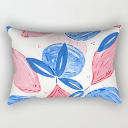 Pink Lemons and Blue Oranges Rectangular Pillow