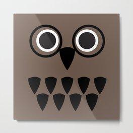 owl nerd Metal Print
