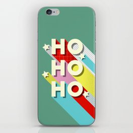 Christmas typography iPhone Skin