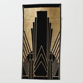 Art deco design Beach Towel