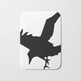 Raven A Halloween Bird Of Prey  Bath Mat