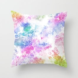 Watercolor Meander Throw Pillow