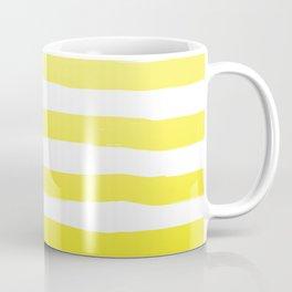 Sun Yellow Handdrawn horizontal Beach Stripes - Mix and Match with Simplicity of Life Coffee Mug