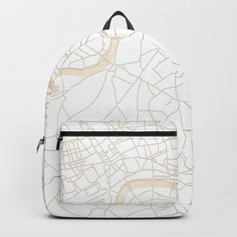 White on Gold London Street Map Backpack