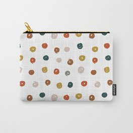 Colorful Doodle Dots Pattern Carry-All Pouch