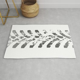 Tractor Tyre Marks Rug