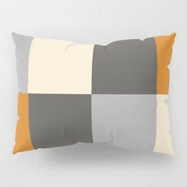 Minimal Abstract Vintage Cream Orange Grey 14 Pillow Sham
