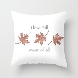 Falling Leaves in Watercolor Throw Pillow
