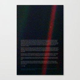 Pale Blue Dot - Voyager 1 & Carl Sagan quote Canvas Print