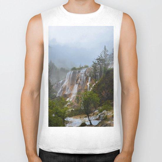 waterfall #society6 Biker Tank