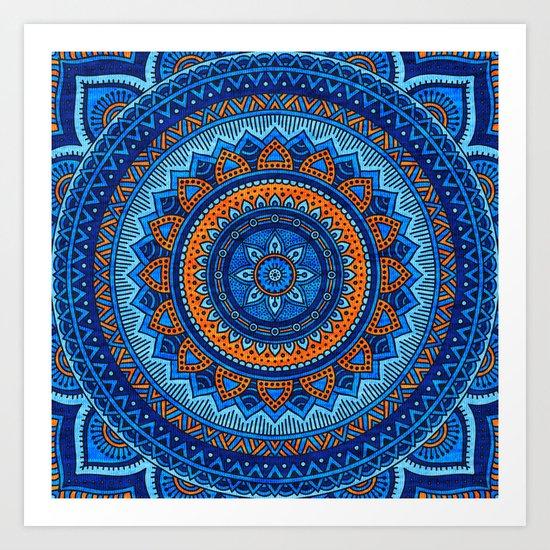 Hippie mandala 36 Art Print