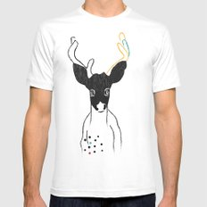 JACK OF SPADES White MEDIUM Mens Fitted Tee