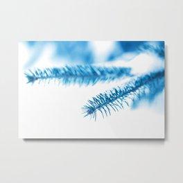 Snowy Spruce Needles 8 Metal Print