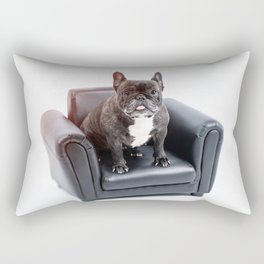 French bulldog portrait Rectangular Pillow