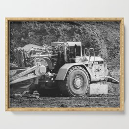 Heavy equipment at rest Serving Tray