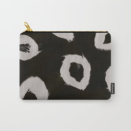 Round, Abstract, White & Black Carry-All Pouch