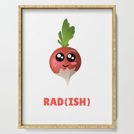You Are Pretty Rad(ish) Cute Radish Pun Serving Tray