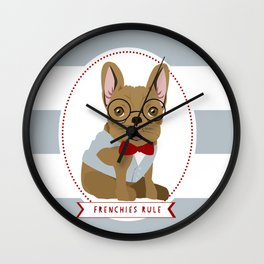 Professor Riley - Frenchies Rule Wall Clock