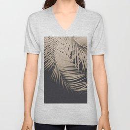 Palm Leaves Sepia Vibes #1 #tropical #decor #art #society6 Unisex V-Neck