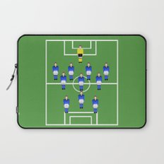 Football Soccer sports team in blue Laptop Sleeve