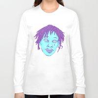 wiz khalifa Long Sleeve T-shirts featuring WIZ by Mitch Meseke