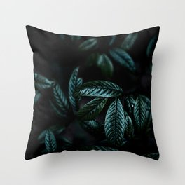 Dark Leaves 6 Throw Pillow