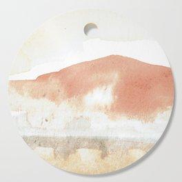 Terra Cotta Hills Abstract Landsape Cutting Board