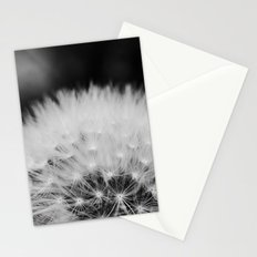 black and white dandelion Stationery Cards