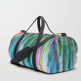 Rainbow Rain - Alcohol Ink Painting Duffle Bag
