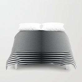 op art - horizontal triangles Duvet Cover