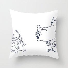 a dose of polar bear Throw Pillow