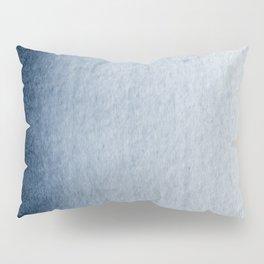 Indigo Vertical Blur Abstract Pillow Sham