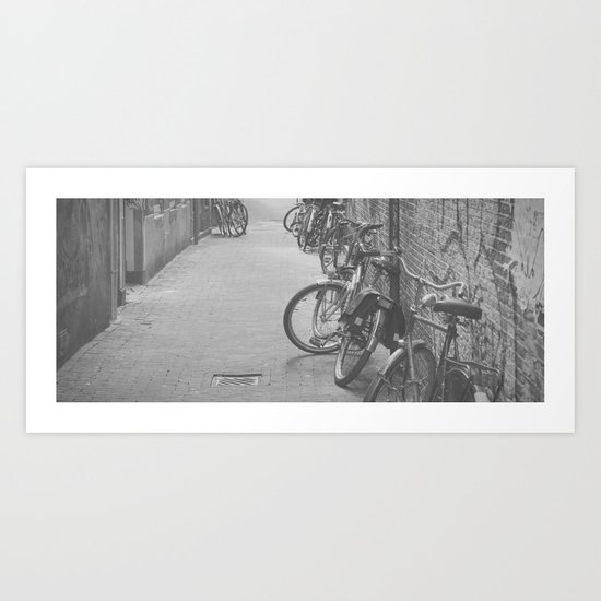 amsterdam bicycles... Art Print