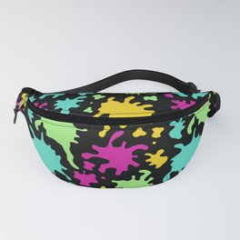 Colorful Paint Splatter Pattern Fanny Pack