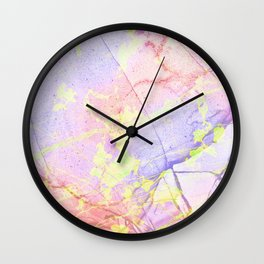 Irridescent Marble - Pink, Purple and neon green Wall Clock