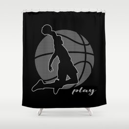 Basketball Player (monochrome) Shower Curtain