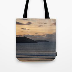 Evening Skies Over Polzeath Tote Bag