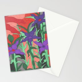 Twilight Sun Garden Floral Art Stationery Cards