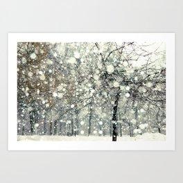 In the Snow Art Print